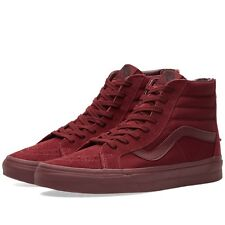 Vans Sk8 Hi Reissue Zip Men's Size 10 Mono Port Royals Maroon