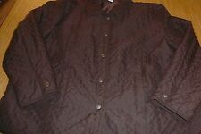 KIM ROGERS Womens Quilted Jacket Lightweight Brown Polyester Size 2X