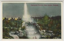 Hampshire postcard - Illuminated Fountain, Rock Garden, Southsea