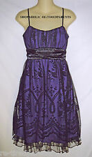 ROXY ROX - DRESS – DESIGNER – SEMI-FORMAL – PURPLE -BLACK – JR M (7/9) - NEW $60