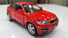 BMW X6 rosso Kinsmart giocattolo modellino 1/38 scala pressofusione automobile