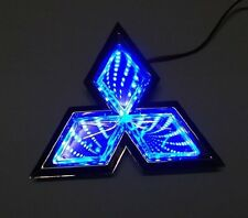 Blue Car 3D LED LOGO lights emblem badge sticker Lamp for Mitsubishi Lancer
