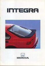 Honda Integra 1986-87 Original UK Sales Brochure Inc EX 16v