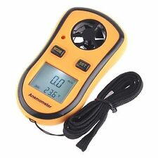 Digital Pocket Anemometer Wind Speed Meter Temperature Gauge LCD Thermometer USA