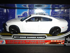 Motormax Dodge Charger Police Pursuit 2014 White Unmarked Police 1/24