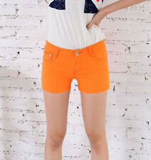Lady Women candy-colored Skinny casual Stretch Jeans denim shorts Pants YF215
