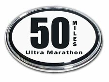 50 Miles Ultra Marathon Chrome Plated Car Auto Truck Emblem Made in the USA! NEW