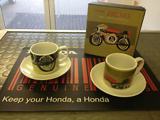 GENUINE HONDA Classic Racing Motorcycle Cup & Saucer Set 2RC143 *FREE POST*