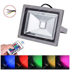 10W RGB Color Changing LED Flood Light Garden Landscape Lamp + remote 85-265V