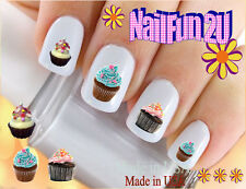 "RTG Set#509 IMAGE ""Yummy Cupcakes Set 1"" WaterSlide Decals Nail Art Transfers"