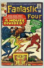 FANTASTIC FOUR #34 (1965) REED, BEN, JOHNNY & SUE BATTLE EACH OTHER ( MR.GIDEON)