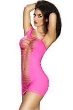 Kaamastra Pink Exposed Shredded Panels Chemise Dress