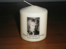 Candle Picture Jon Bon Jovi Can be Personalised Birthday Love Anniversary New