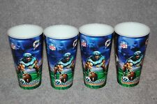 FOUR MIAMI DOLPHINS NFL FOOTBALL SPORTS 3-D CUPS
