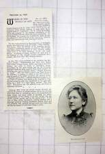 1897 Miss Beatrice Gibbs Graduate Of St John's Wood School Of Art