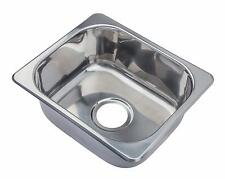Hygenic Small 1.0 Bowl Inset Stainless Steel Kitchen Sink Sinks A11 no overflow