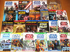Lot 26 STAR WARS READERS & PICTURE Books Visual Dictionaries Clone Wars more L3