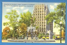 INDIANA - INDIANAPOLIS, FOUNTAIN IN UNIVERSITY PARK VINTAGE PC  USED 526