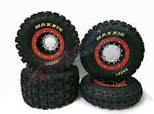 Hiper Tech 3 Beadlock Rims Maxxis Razr 2 Tires Front/Rear XC Honda TRX 400EX 400