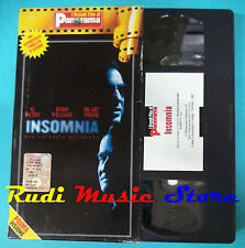 VHS film INSOMNIA Al Pacino Robin Williams Hilary Swank PANORAMA (F96) no dvd