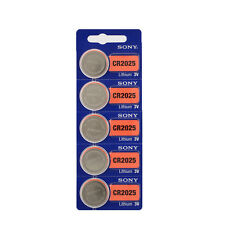 5pcs Pack Sony CR2025 3V Lithium Coin Batteries Toy Button Cell Battery