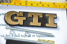 24K Gold Plated GTI Emblem Car Front Grille Grill Badge for VW GTI GOLF POLO