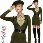 Fever WW2 Captain Costume Sexy Wartime Officer Fancy Dress Ladies Army Outfit