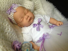 """ ELLA "" 18  INCH BEAUTIFUL SLEEPING REBORN BABY GIRL MAGNETIC DUMMY"