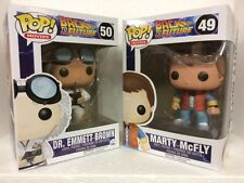 """Funko Movie Back To The Future 3.75"""" Pop Figure Set Marty Mcfly & Doc"""