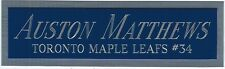 AUSTON MATTHEWS MAPLE LEAFS NAMEPLATE FOR AUTOGRAPHED SIGNED HOCKEY STICK-JERSEY
