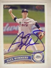 ALEX WIMMERS signed TWINS 2011 Topps Pro Debut baseball card AUTO OHIO STATE #74