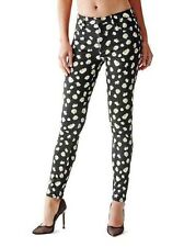 GUESS 1981 HIGH RISE SKINNY WITH FALLING DAISY PRINT JEANS SZ: 24