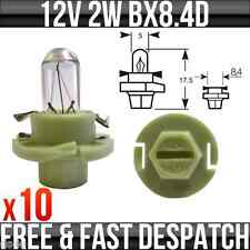 12v 2w BX8.4D (Green base) Dashboard Indicator & Panel Bulbs R509TMGR Pack of 10