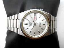 VINTAGE SEE THROUGH MID SIZE SILVERWHITE DIAL SEIKO 5 JAPAN MENS AUTOMATIC WATCH