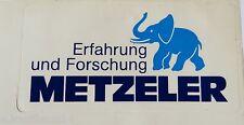 Aufkleber METZELER Motorrad-Reifen Schlauchboot Elefant Blaunase 80er Sticker