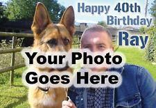 Personalizado Cumpleaños Feliz / tarjeta de saludo con Tu Foto Eg. Familia Mascotas Hols