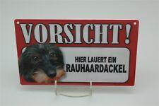RAUHAARDACKEL - Tierwarnschild - VORSICHT Warnschild 20x12 cm 37  HUND HUNDE