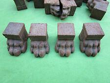 4 sabots pieds meuble table étagères... griffes pattes lion fonte hauteur 3,4 cm