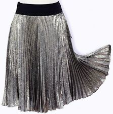 NWT DKNY DONNA KARAN NEW YORK SHIMMER METALLIC SILK OFFICE TO EVENING SKIRT $245
