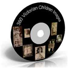 360 Victorian Children Images on CD Photos Pictures