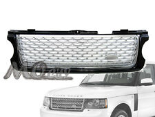 Front Mesh Replacement Grille for 10-12 Land Range Rover L322 BLACK/SILVER 11