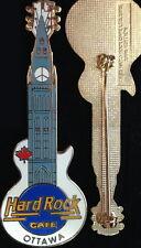 Hard Rock Cafe OTTAWA 1996 Parliament Peace Sign Clock Guitar PIN - HRC #17095
