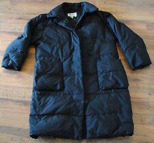 Women's Eddie Bauer long Goose down fill coat / parka, black, Size M