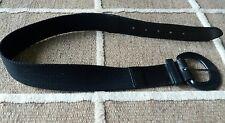 Woman's woven black belt