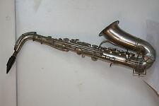 Saxophone ancien COUTURIER Pelisson Guinot blanchon, bec A Lelandais qualitée 6