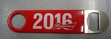 Budweiser 2016 Bartender Bottle Opener Commercial Grade Rubber Handle Red New