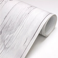 2.5m * Vintage White Wood Panel no-344 - Self Adhesive Peel-Stick Wallpaper **
