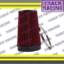 """UNIVERSAL 6 INCHES 6"""" 152mm DIAMETER TRUCK COLD AIR INTAKE DRY FILTER 2008 Red"""