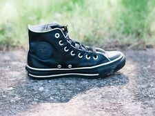 SCARPE CONVERSE PELLE - ALL STAR CHUCK TAYLOR SHOES LEATHER SZ 5/37.5 BLACK S93