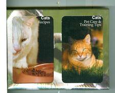 "Two Decks Playing Cards ""108 Cat Recipes/Pet Care"", by Finders Forum, Canada"